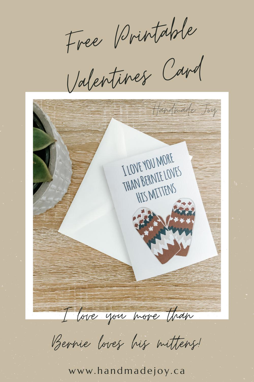 Bernie mittens free valentine card