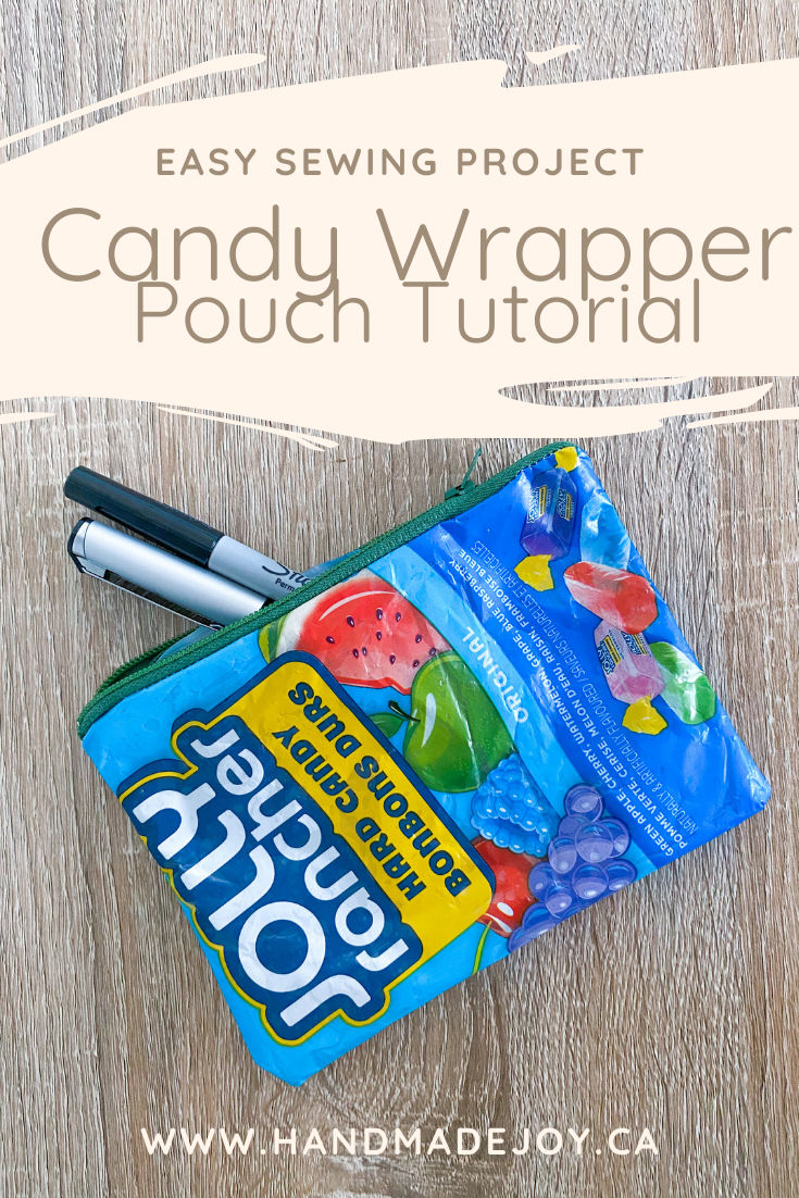 CAndy WRapper Zippered Pouch